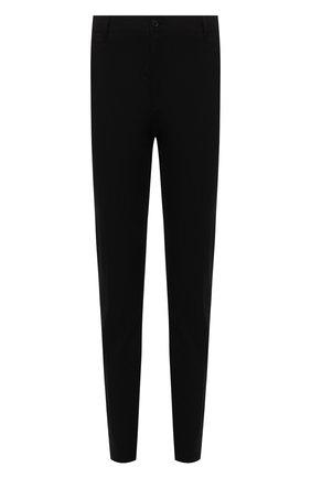 Мужские хлопковые брюки VERSACE черного цвета, арт. A88701/1F00652 | Фото 1 (Материал внешний: Хлопок; Длина (брюки, джинсы): Стандартные; Случай: Повседневный; Стили: Классический)