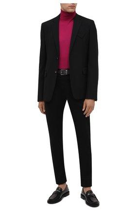 Мужские хлопковые брюки VERSACE черного цвета, арт. A88701/1F00652   Фото 2