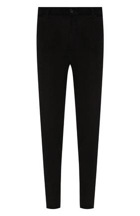 Мужские хлопковые брюки DOLCE & GABBANA темно-серого цвета, арт. GY6FET/FUWBM   Фото 1 (Длина (брюки, джинсы): Стандартные; Материал внешний: Хлопок; Случай: Повседневный; Стили: Кэжуэл)