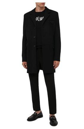 Мужские хлопковые брюки DOLCE & GABBANA темно-серого цвета, арт. GY6FET/FUWBM   Фото 2 (Длина (брюки, джинсы): Стандартные; Материал внешний: Хлопок; Случай: Повседневный; Стили: Кэжуэл)