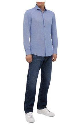 Мужская рубашка BOSS синего цвета, арт. 50454007 | Фото 2