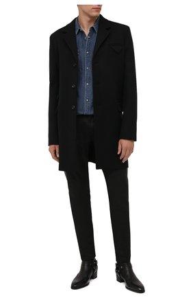 Мужская джинсовая рубашка BALMAIN синего цвета, арт. WH1HC030/145D | Фото 2