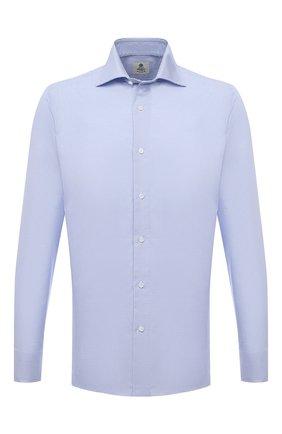 Мужская хлопковая сорочка LUIGI BORRELLI голубого цвета, арт. PS10002/LUCIAN0/ST/EV/PC | Фото 1
