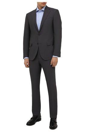 Мужская хлопковая сорочка LUIGI BORRELLI голубого цвета, арт. PS10002/LUCIAN0/ST/EV/PC | Фото 2