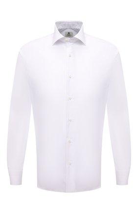 Мужская хлопковая сорочка LUIGI BORRELLI белого цвета, арт. PS10012/LUCIAN0/ST/EV/PC | Фото 1