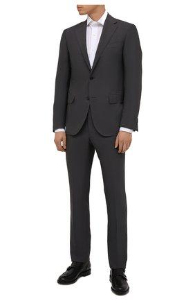 Мужская хлопковая сорочка LUIGI BORRELLI белого цвета, арт. PS10012/LUCIAN0/ST/EV/PC | Фото 2
