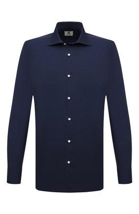 Мужская хлопковая сорочка LUIGI BORRELLI темно-синего цвета, арт. PS10012/LUCIAN0/ST/EV/PC | Фото 1