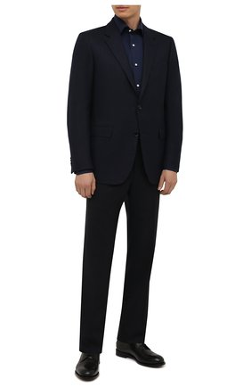 Мужская хлопковая сорочка LUIGI BORRELLI темно-синего цвета, арт. PS10012/LUCIAN0/ST/EV/PC | Фото 2