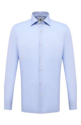 Мужская хлопковая сорочка LUIGI BORRELLI голубого цвета, арт. PS30060/LUCIAN0/ST/EV/PC | Фото 1