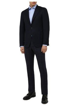 Мужская хлопковая сорочка LUIGI BORRELLI голубого цвета, арт. PS30060/LUCIAN0/ST/EV/PC | Фото 2