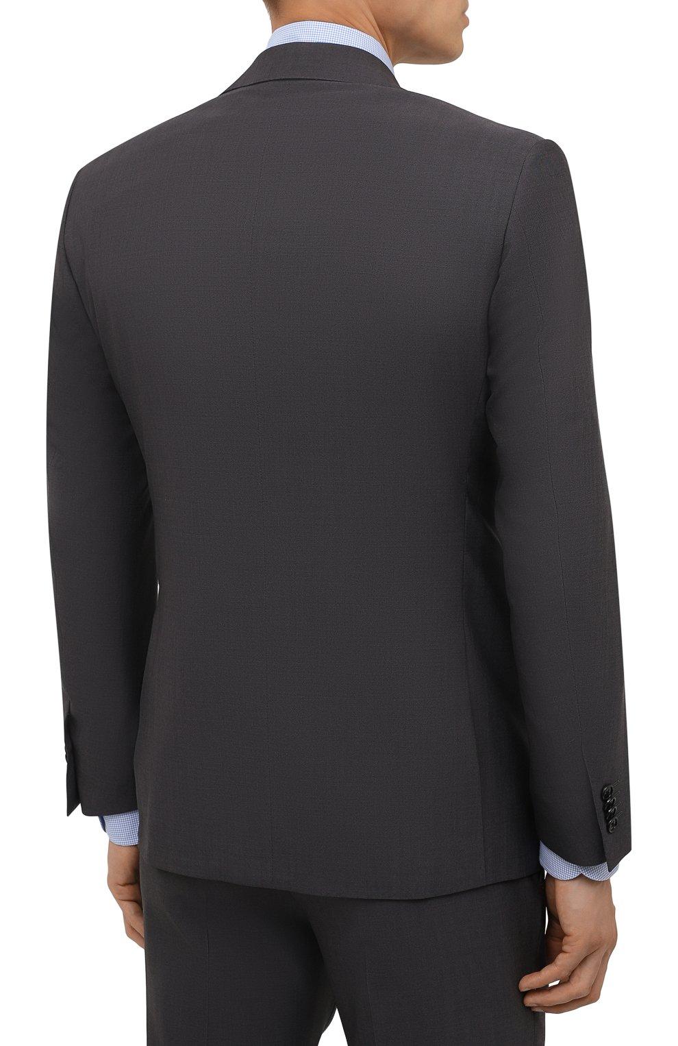 Мужской шерстяной костюм CORNELIANI темно-серого цвета, арт. 887268-1818414/92 Q1   Фото 3 (Материал внешний: Шерсть; Рукава: Длинные; Костюмы М: Однобортный; Стили: Классический; Материал подклада: Купро)