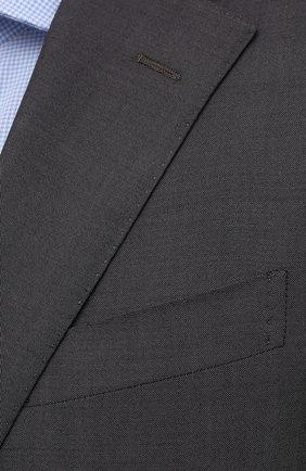 Мужской шерстяной костюм CORNELIANI темно-серого цвета, арт. 887268-1818414/92 Q1   Фото 6 (Материал внешний: Шерсть; Рукава: Длинные; Костюмы М: Однобортный; Стили: Классический; Материал подклада: Купро)