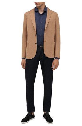 Мужская шерстяная рубашка CORNELIANI синего цвета, арт. 88P112-1811203/00 | Фото 2