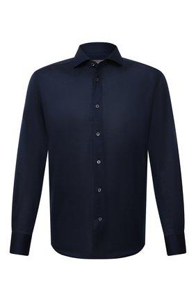 Мужская хлопковая рубашка CORNELIANI темно-синего цвета, арт. 88P112-1811213/00 | Фото 1