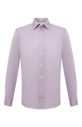 Мужская хлопковая сорочка ETON сиреневого цвета, арт. 1000 03087 | Фото 1 (Материал внешний: Хлопок; Длина (для топов): Стандартные; Рукава: Длинные; Случай: Формальный; Принт: Однотонные; Воротник: Кент; Рубашки М: Slim Fit; Стили: Классический; Манжеты: На пуговицах)