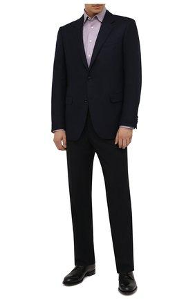 Мужская хлопковая сорочка ETON сиреневого цвета, арт. 1000 03087 | Фото 2 (Материал внешний: Хлопок; Длина (для топов): Стандартные; Рукава: Длинные; Случай: Формальный; Принт: Однотонные; Воротник: Кент; Рубашки М: Slim Fit; Стили: Классический; Манжеты: На пуговицах)