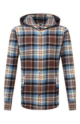 Мужская хлопковая рубашка KITON разноцветного цвета, арт. UMCMARH0786404 | Фото 1