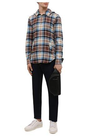 Мужская хлопковая рубашка KITON разноцветного цвета, арт. UMCMARH0786404 | Фото 2