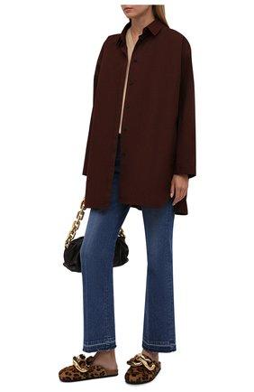 Женские кожаные сабо chain JW ANDERSON леопардового цвета, арт. AN35004A/14035 | Фото 2 (Материал внутренний: Натуральная кожа; Подошва: Плоская; Каблук высота: Без каблука; Каблук тип: Устойчивый)