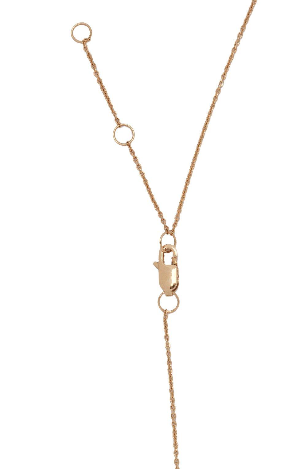 Женское колье J-POINT золотого цвета, арт. ИПГ857.34.210421.12Y   Фото 4 (Материал: Золото)