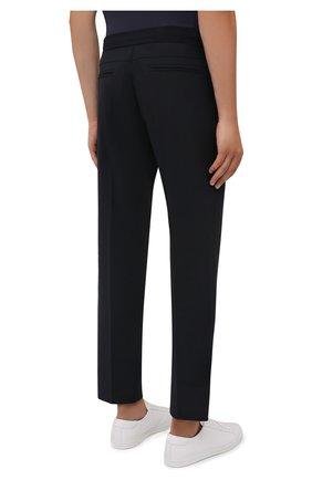 Мужские брюки BOGNER темно-синего цвета, арт. 18483283   Фото 4 (Материал внешний: Шерсть, Синтетический материал; Длина (брюки, джинсы): Стандартные; Случай: Повседневный; Материал подклада: Синтетический материал; Стили: Кэжуэл)