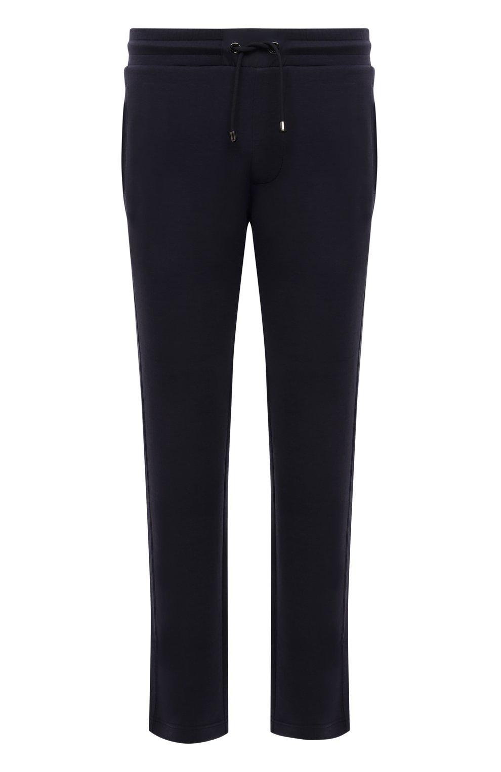 Мужские брюки BOGNER темно-синего цвета, арт. 18755253   Фото 1 (Мужское Кросс-КТ: Брюки-трикотаж; Длина (брюки, джинсы): Стандартные; Случай: Повседневный; Кросс-КТ: Спорт; Материал внешний: Синтетический материал, Хлопок; Стили: Спорт-шик, Кэжуэл)
