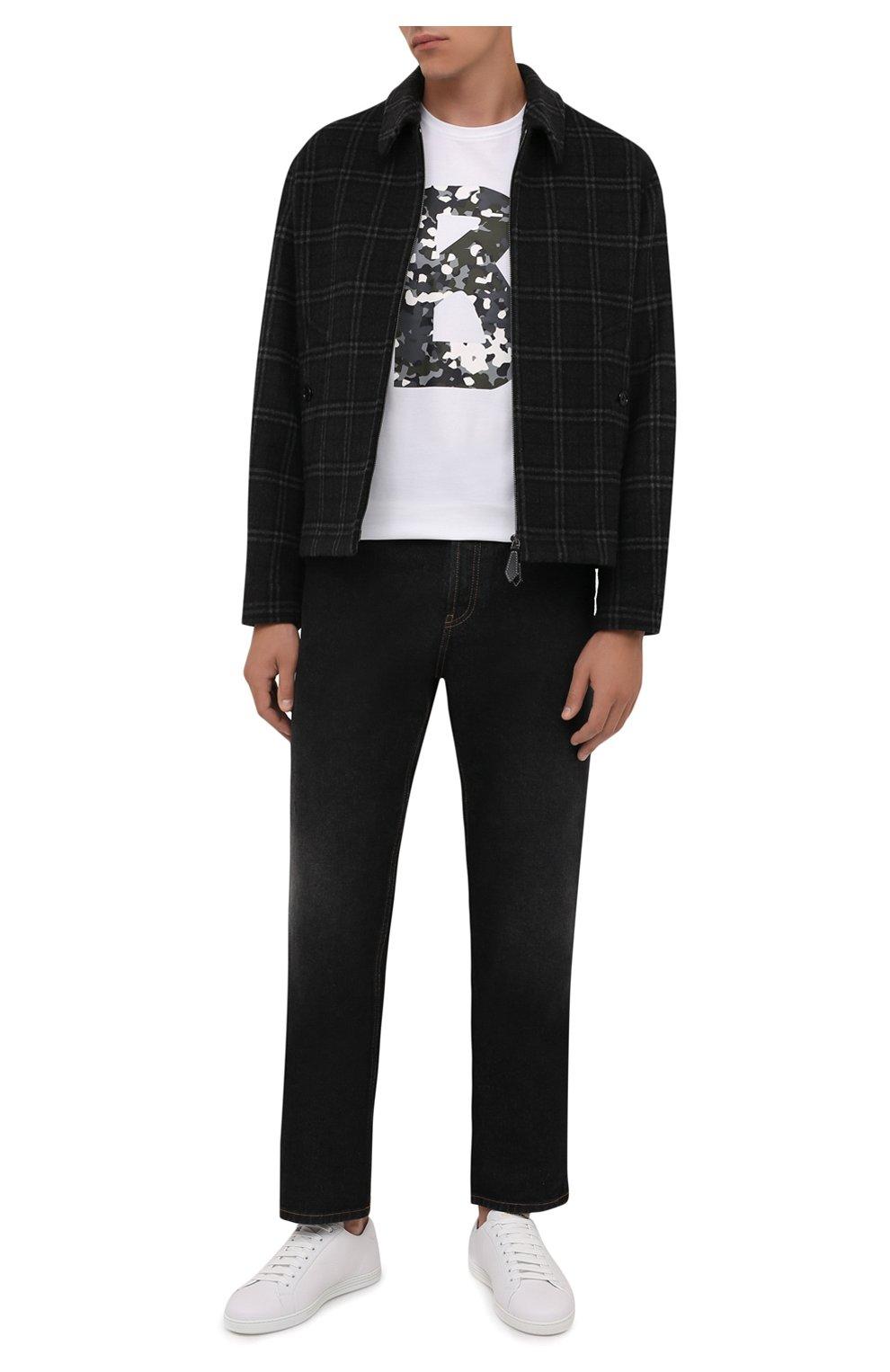 Мужская хлопковая футболка BOGNER белого цвета, арт. 58516604   Фото 2 (Рукава: Короткие; Длина (для топов): Стандартные; Принт: С принтом; Материал внешний: Хлопок; Стили: Кэжуэл)