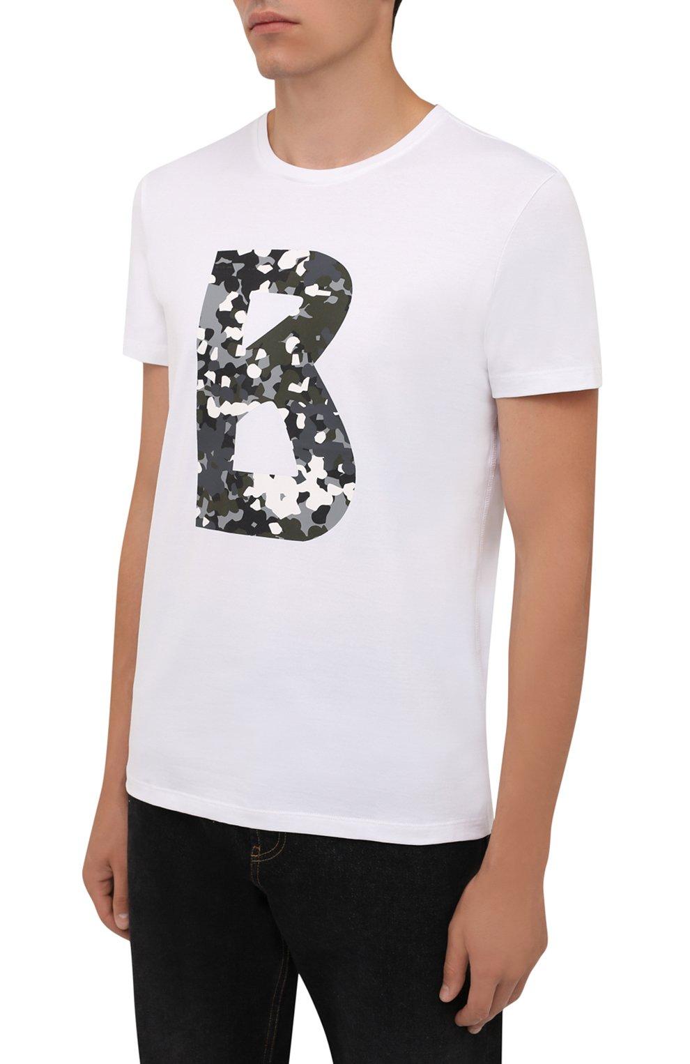 Мужская хлопковая футболка BOGNER белого цвета, арт. 58516604   Фото 3 (Рукава: Короткие; Длина (для топов): Стандартные; Принт: С принтом; Материал внешний: Хлопок; Стили: Кэжуэл)