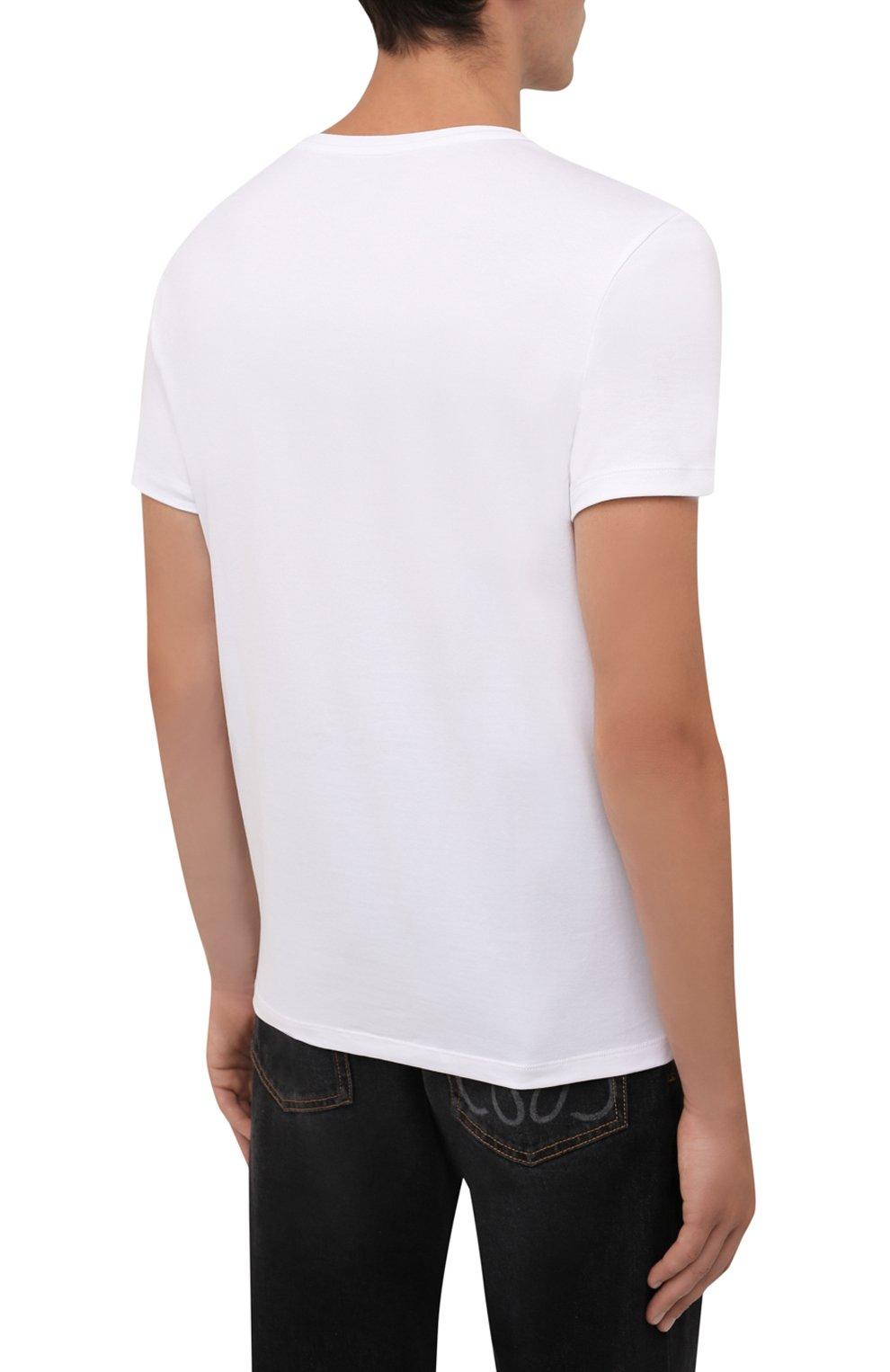Мужская хлопковая футболка BOGNER белого цвета, арт. 58516604   Фото 4 (Рукава: Короткие; Длина (для топов): Стандартные; Принт: С принтом; Материал внешний: Хлопок; Стили: Кэжуэл)
