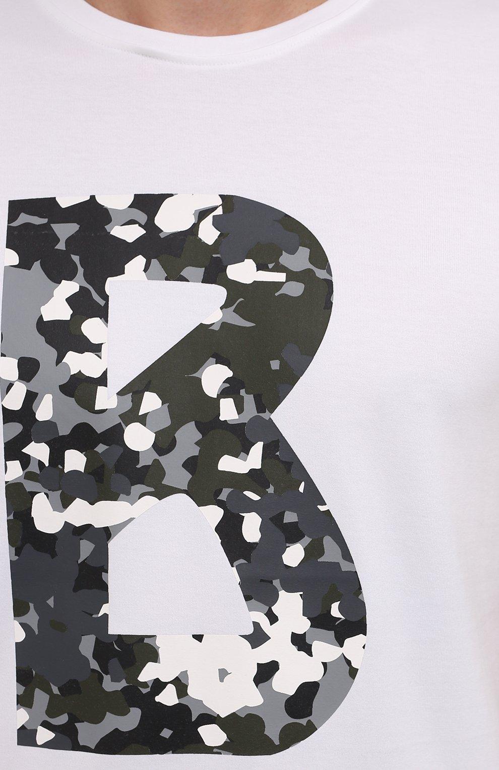 Мужская хлопковая футболка BOGNER белого цвета, арт. 58516604   Фото 5 (Рукава: Короткие; Длина (для топов): Стандартные; Принт: С принтом; Материал внешний: Хлопок; Стили: Кэжуэл)