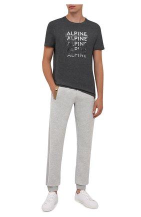 Мужская хлопковая футболка BOGNER темно-серого цвета, арт. 58526604 | Фото 2