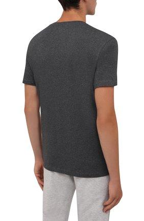 Мужская хлопковая футболка BOGNER темно-серого цвета, арт. 58526604   Фото 4 (Рукава: Короткие; Длина (для топов): Стандартные; Принт: С принтом; Материал внешний: Хлопок; Стили: Кэжуэл)