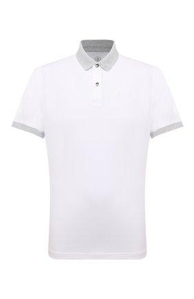 Мужское хлопковое поло BOGNER белого цвета, арт. 58116646 | Фото 1