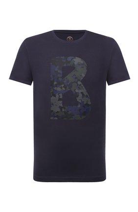 Мужская хлопковая футболка BOGNER темно-синего цвета, арт. 58516604 | Фото 1