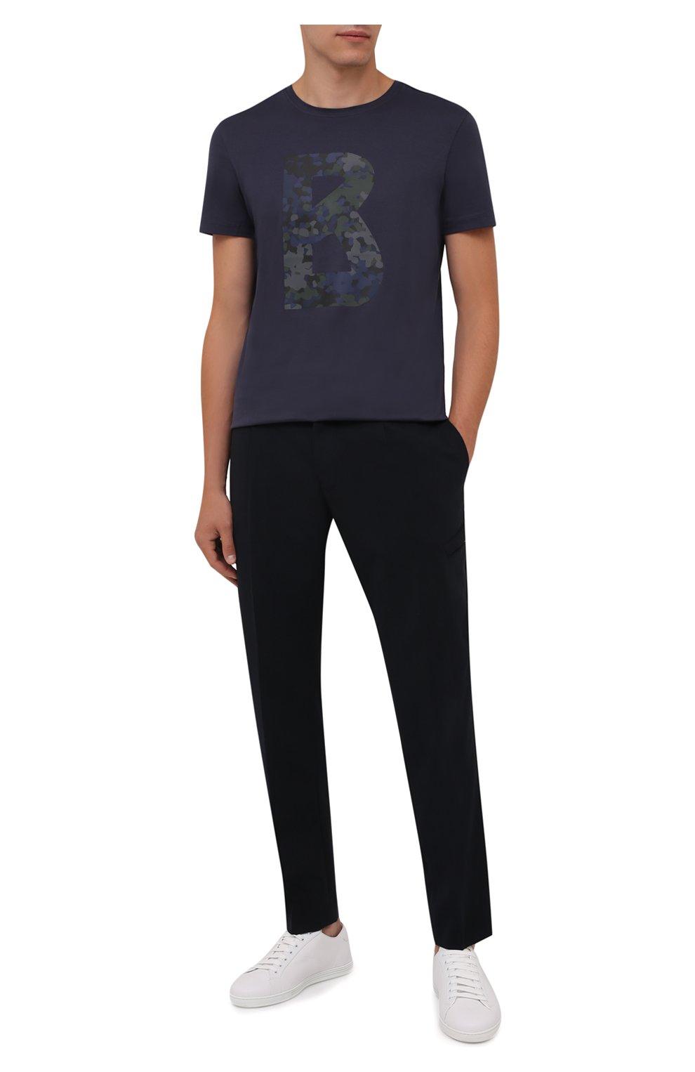 Мужская хлопковая футболка BOGNER темно-синего цвета, арт. 58516604 | Фото 2 (Рукава: Короткие; Длина (для топов): Стандартные; Принт: С принтом; Материал внешний: Хлопок; Стили: Кэжуэл)