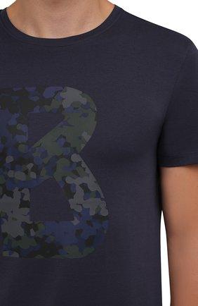 Мужская хлопковая футболка BOGNER темно-синего цвета, арт. 58516604 | Фото 5 (Рукава: Короткие; Длина (для топов): Стандартные; Принт: С принтом; Материал внешний: Хлопок; Стили: Кэжуэл)