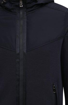 Мужской толстовка BOGNER темно-синего цвета, арт. 88025253 | Фото 5 (Рукава: Длинные; Мужское Кросс-КТ: Толстовка-одежда; Материал внешний: Синтетический материал, Хлопок; Длина (для топов): Стандартные; Стили: Спорт-шик)