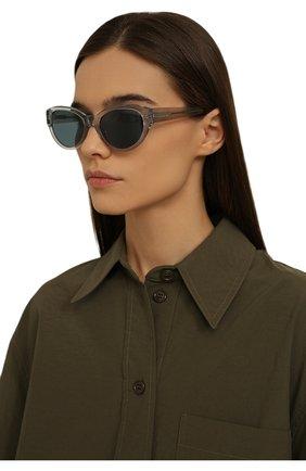 Женские солнцезащитные очки LORO PIANA серого цвета, арт. FAL4776 | Фото 2 (Тип очков: С/з)