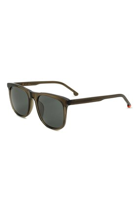 Мужские солнцезащитные очки LORO PIANA хаки цвета, арт. FAI4927 | Фото 1 (Тип очков: С/з; Оптика Гендер: оптика-мужское; Очки форма: Прямоугольные)