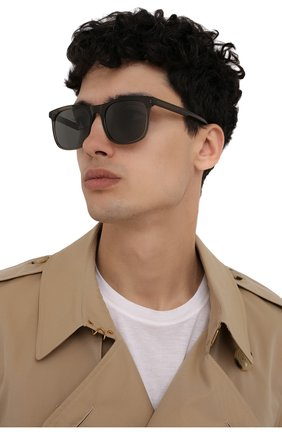 Мужские солнцезащитные очки LORO PIANA хаки цвета, арт. FAI4927 | Фото 2 (Тип очков: С/з; Оптика Гендер: оптика-мужское; Очки форма: Прямоугольные)