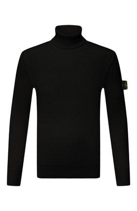 Мужской шерстяной свитер STONE ISLAND черного цвета, арт. 7515525C2 | Фото 1