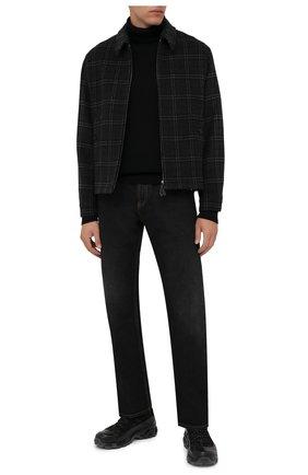 Мужской шерстяной свитер STONE ISLAND черного цвета, арт. 7515525C2 | Фото 2