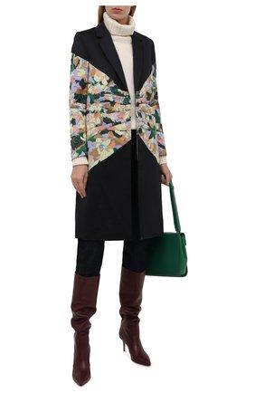 Женское хлопковое пальто DRIES VAN NOTEN разноцветного цвета, арт. 212-030229-3150   Фото 2 (Материал подклада: Хлопок; Материал внешний: Хлопок; Рукава: Длинные; Длина (верхняя одежда): До колена; 1-2-бортные: Однобортные; Стили: Романтичный)