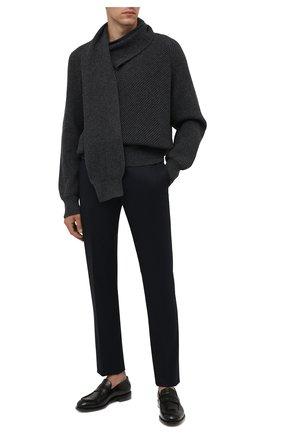 Мужские шерстяные брюки CORNELIANI темно-синего цвета, арт. 885B01-1817226/02 | Фото 2