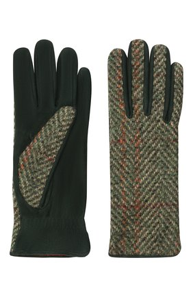 Женские перчатки LORO PIANA зеленого цвета, арт. FAL7941 | Фото 2