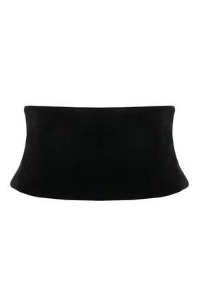 Женский текстильный пояс TOM FORD черного цвета, арт. WB0004-FAX855 | Фото 1 (Материал: Текстиль, Вискоза; Кросс-КТ: Широкие)
