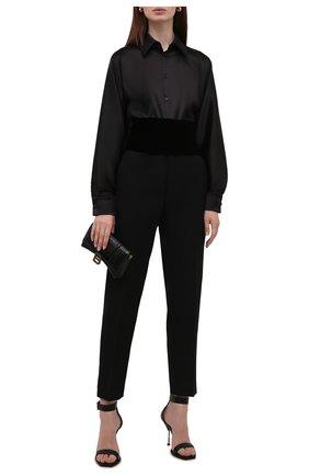 Женский текстильный пояс TOM FORD черного цвета, арт. WB0004-FAX855 | Фото 2 (Материал: Текстиль, Вискоза; Кросс-КТ: Широкие)