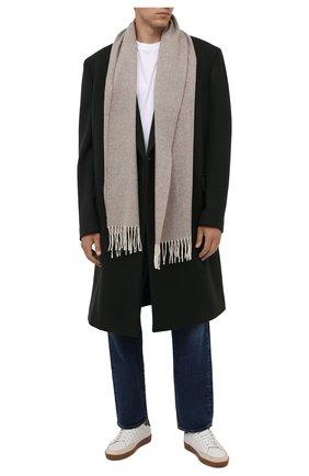 Мужской шерстяной шарф ETON бежевого цвета, арт. A000 30132 | Фото 2