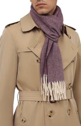 Мужской шерстяной шарф ETON бордового цвета, арт. A000 30132   Фото 2