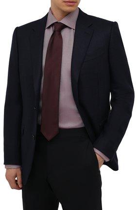 Мужской шелковый галстук ETON бордового цвета, арт. A000 32661   Фото 2